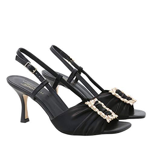 Sandal Cindy, 36, Black Jewel Strap Sandal