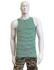 Rusa genuina Telnyashka Marines de la Armada Militares T-Shirt Green Medium