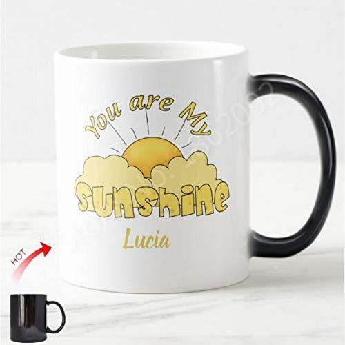 HUYHUY Sie Sind Mein Sonnenschein Kaffeetasse Personalisierte Magische Tassen Teetassen Jubiläums Valentinstag Geschenke Für Boyfirend Freundin