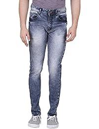 Realm Men Blue Skinny Fit Acid Wash Stretchable Jeans