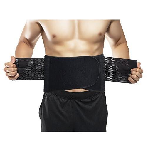 takestop/® Cintura Lombare Traspirante Fascia Fasce Sport Sostegno Schiena Fitness Corsetto Pancia Addome Snellente