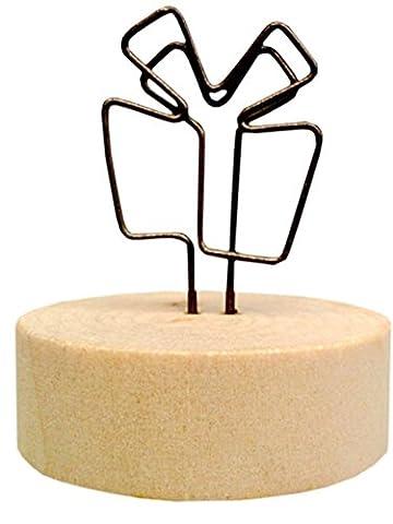 Ensemble de 5 titulaires de mémo créatifs en bois Notes de message Cartes-photos de cartes postales Mémo Clip # 10