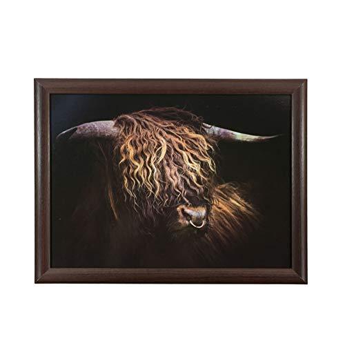 Highland Bulldog Brun Noir Plateau Perlé Coussin Résistant à la Chaleur To 90°C – 43x33cm