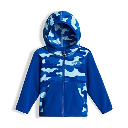 Face 3m North The (The North Face Infant Glacier Full Zip Hoodie - Sky Blue Classic Camo Print - 3M (Past Season))