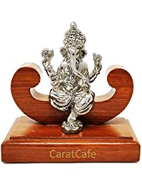 CaratCafe Lord Ganesha Ganpati Elephant God Idol Pure Silver 999 Statue,BIS Hallmark Certified for Puja Temple Good Luck Gift & Home Decor { NET WT 29-30 GMS Pure Silver}