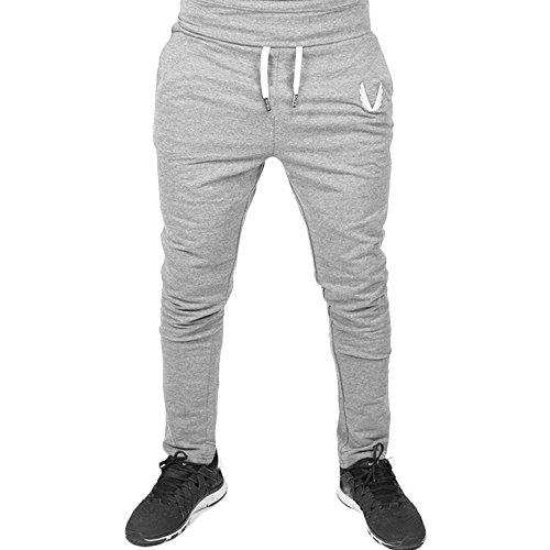 Pantaloni sportivi da allenamento da uomo casual da allenamento elastico fitness POachers Grigio