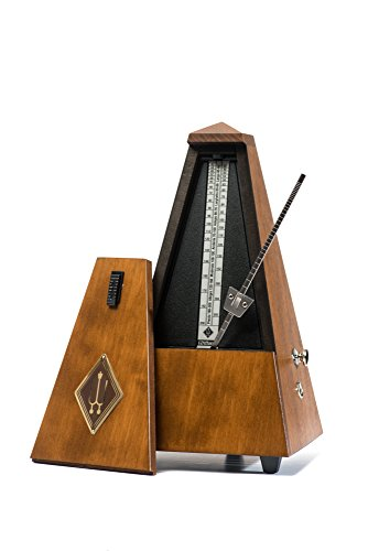 Wittner Metronome 813M Pyramid shape Wooden case with bell Nut brown matt