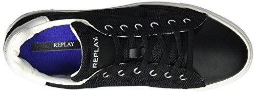 Replay Herren Bemd Sneaker Schwarz (nero Bianco)