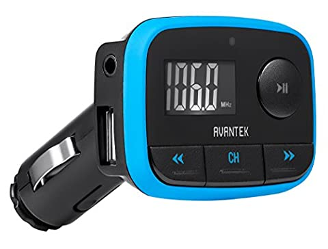 AVANTEK FM Transmitter car radio adapter & MP3 player 3,5mm cable harnesses MP3 + WMA Player ... (Spielen Harness Adapter)
