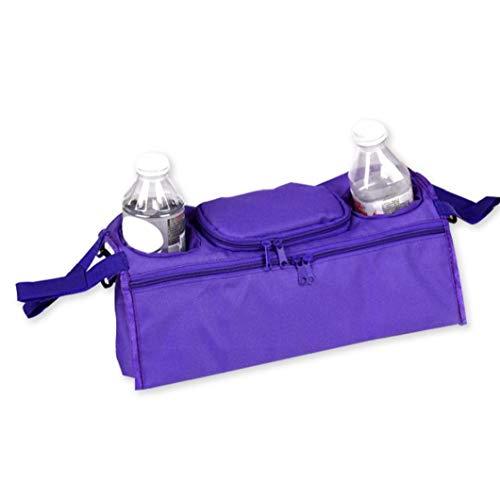 TDlmfRDi Kinderwagen Hängende Tasche Mini-Flaschen-Schalen Regenschirm Lagerung Hängender Beutel Korb Stroller Halter Lila -