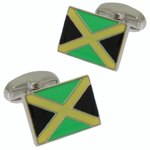 Jamaica Flag Cufflinks/BRITISH MADE/polsini & Co