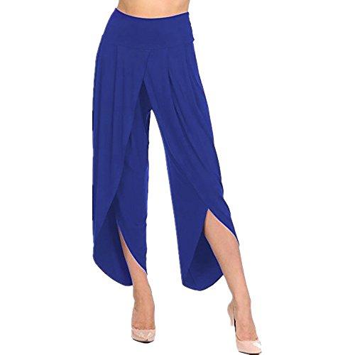 YWLINK Damen Kleidung,Frauen üBerlagert Breites Bein FließEnd Hosen Hohe Taille Breite Beine Hosen
