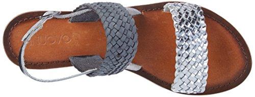 Inuovo 7236, Scarpe Col Tacco con Cinturino a T Donna Blau (Silver-Starlight Blue)