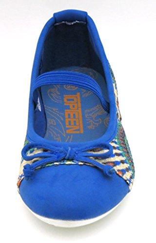 Top Teen Mädchenballerina Ballerinas Mädchenschuh Schuh Blau