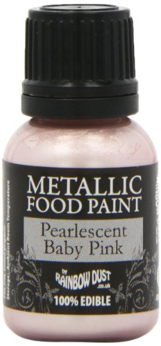 Rainbow Dust Metallic-Lebensmittelfarbe Perlmutt Baby Pink, 1er Pack (1 x 25 ml)
