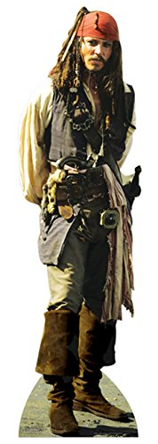Used, JACK SPARROW LIFESIZE CARDBOARD CUTOUT STANDEE STANDUP for sale  Delivered anywhere in UK