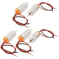 sourcingmap 5pcs Micro Motor Sin Cuerdas de alta torsión 2 cables para modelo juguetes RC DC 1.5-4.5V 22000RPM
