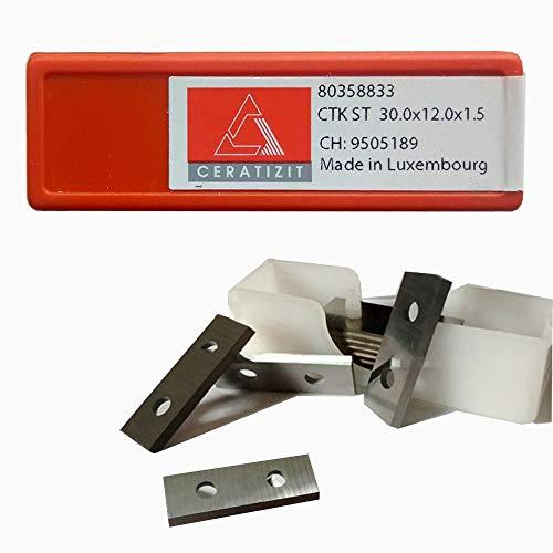 RTing Hartmetallschneider für Drehmaschinen, Holzdrehwerkzeuge, 10 Stück (30 mm Länge x 12 mm Breite x 1,5 mm Dick)