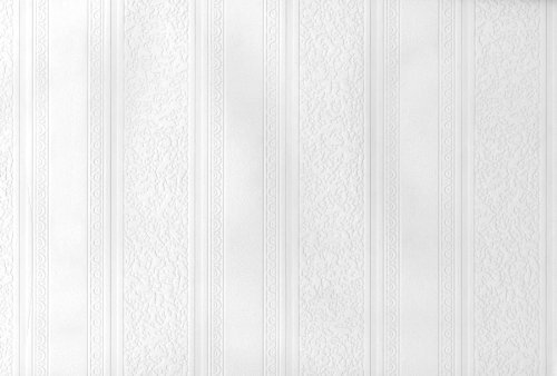 Striped Design Beadboard Paintable Wallpaper by Brewster -