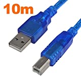 MENGS® 10 Meter High Speed USB Druckleitung USB Quadrat Anschluss Druckerkabel Datenkabel usb mit magnetischen