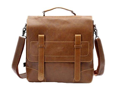 Santimon Mode Retro Schulter Tasche Fur Manner Jugendliche Handtaschen Schultaschen Laptop Rucksack Braun
