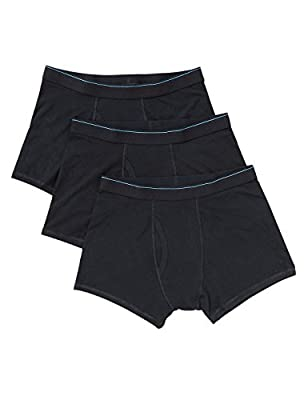 Fa M Ou S Store Mens Cool & Fresh Stretch 90% Cotton Trunks