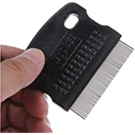 Gamloious(TM Toothed Flea Comb Cat Dog Pet Grooming Steel Small Brush Random Color
