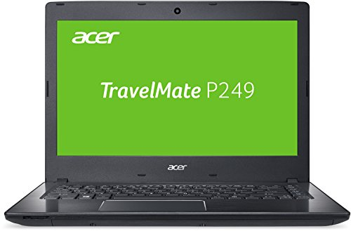 Acer TravelMate P249 (P249-G2-M-5484) 35,56 cm (14 Zoll Full-HD matt) Office Notebook (Intel Core i5-7200U, 8GB RAM, 256GB SSD, Intel HD, Win 10 Pro) schwarz