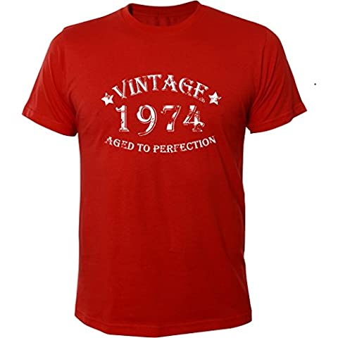 Mister Merchandise T-Shirt Vintage 1974 Aged To Perfection 40 Jahre