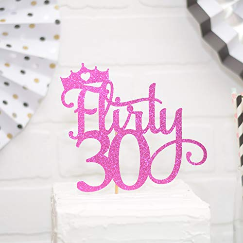 Claude6yhAly Flirty 30 Cake Topper 30. Geburtstag Cake Topper
