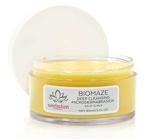 biomaze-mikrodermabrasions-Set Balm bis Milk Cleanser, 3oz. Für glatte und klare Haut. Mit Tahitian...