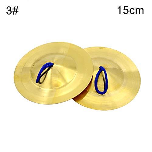 HshDUti 1 Paar Messing Finger Becken Musik Percussion Instrument Kinder Spielzeug Tanzen Requisiten 15cm