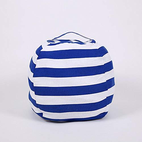 ät reißverschluss Aufbewahrungstasche Kinder Große Plüsch Griff Kette Tasche@Große marineblaue Streifen 24 Zoll ()