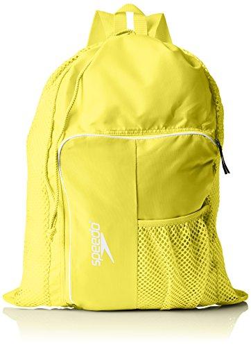 Speedo Deluxe Ventilator Mesh Mochila, Unisex Adulto, Amarillo (Yellow), 24x36x45 cm (W x H x L)