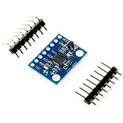 Módulo de sensor MPU-6050, acelerómetro de 3 ejes y giroscopio de 3 ejes, tablero de conexiones 6DOF, I2C, SPI, p. Ej. para Arduino / Genuino, Raspberry Pi por Paradisetronic