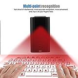 Ashey Tastiera per Proiezione Laser,Tastiera Virtuale Portatiletastiera Full Size Connessione Bluetooth/USB Laser Virtuale Tastiera Wireless,per Windows/iOS/Android/Mac OS