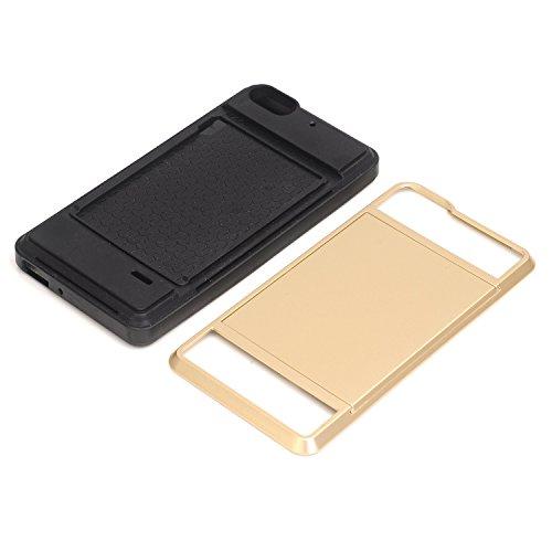 yhuisen Neue Hybrid Schiebetür Position TPU + PC Case Wallet Holder Schutzschale Stoßfest Robuste Gummi Papier schwer Abdeckung des Touchscreens für Huawei P8 Blue