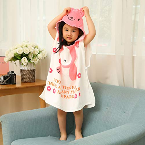 Tier Kapuze Baby-Handtuch Waschlappen Ultra Soft und Extra Large, 100% Baumwolle Bademantel for Dusche Geschenk for Jungen oder Mädchen (2-6 Jahre) (Color : Rabbit)