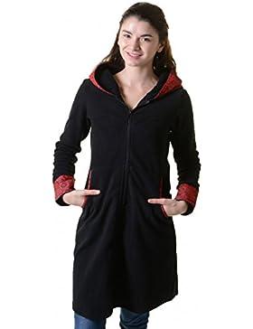 Abrigo polar chaqueta con capucha Goa PSY hippie boho romantisch