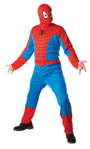Spiderman-Kostüm mit Kapuzenmaske für Erwachsene L