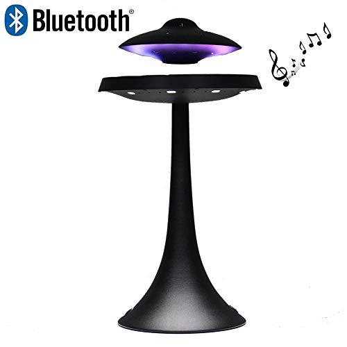 LIRONG UFO Magnetic Suspension Lautsprecher Sieben Farbe Drahtlose Bluetooth Stereo Lautsprecher 1200 mAh Mode Kreative Geschenk,Black