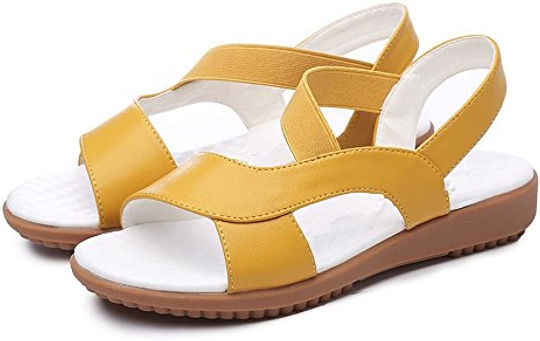 BAJIAN-LI Alta heelsdonna sandali estivi di di di Peep toe scarpe basse Ladies Flip Flop sandali scarpe | Elegante E Robusto Pacchetto  c3b7a1