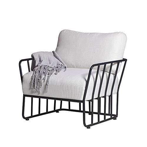 TYI Metal Single Chair Seat, mit Super Soft Cushion, umweltfreundlich, langlebig, die Matte ist leicht zu entfernen und zu waschen, für Wohnzimmer Schlafzimmer Büro -
