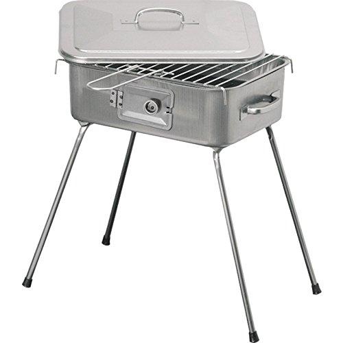 Barbecue pieghevole con griglia brace a carbone bistecchiera portatile