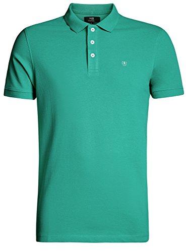 oodji Ultra Herren Pique-Poloshirt Basic Grün (6500N)