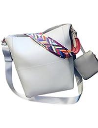 LHWY Las Mujeres de Cuero Bolsa de Hombro Mujer Vintage Crossbody Bolsas de Hombro + Bolsa de Embrague
