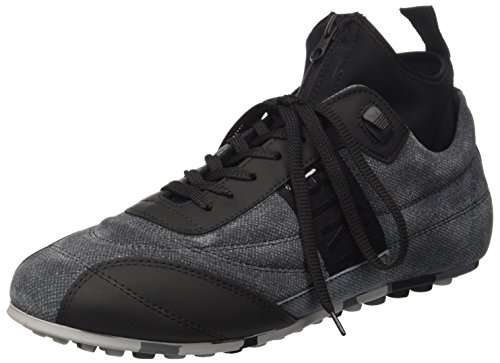 Bikkembergs Soccer 772 Shoe M Leather/Lycra, Scarpe Low-Top Uomo, Nero (Grey/Black), 42 EU