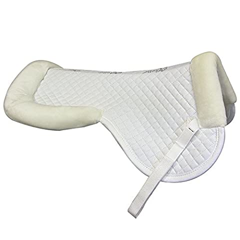 Intrepid International Exselle Half Pad with Wither Relief, White, Large