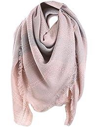 368d01a8a32b MRULIC Echarpes foulards femme Écharpe Grand Plaid en Laine Acrylique  Foulard Long Chaude Vogue en Automne
