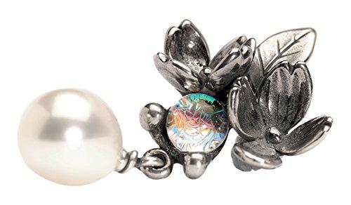 Trollbeads Blumen und Perle Ohrringe